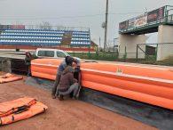 Nagyhalász Speedway Ring, lufifal munkálatok